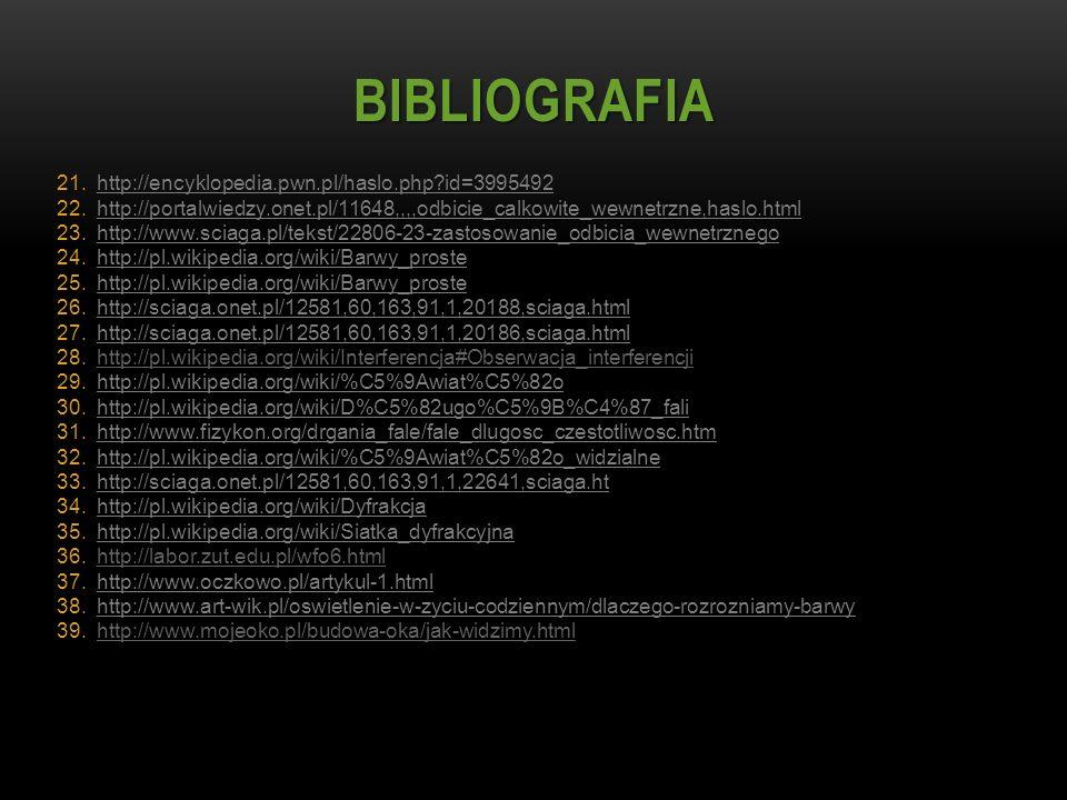 BIBLIOGRAFIA http://encyklopedia.pwn.pl/haslo.php id=3995492