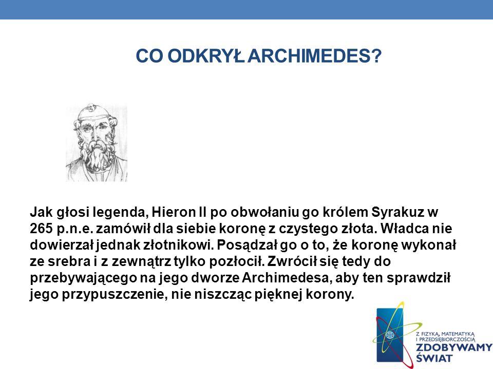 Co odkrył Archimedes