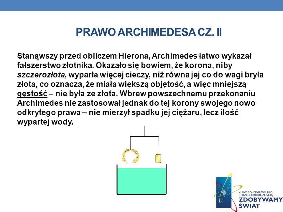 Prawo archimedesa cz. II