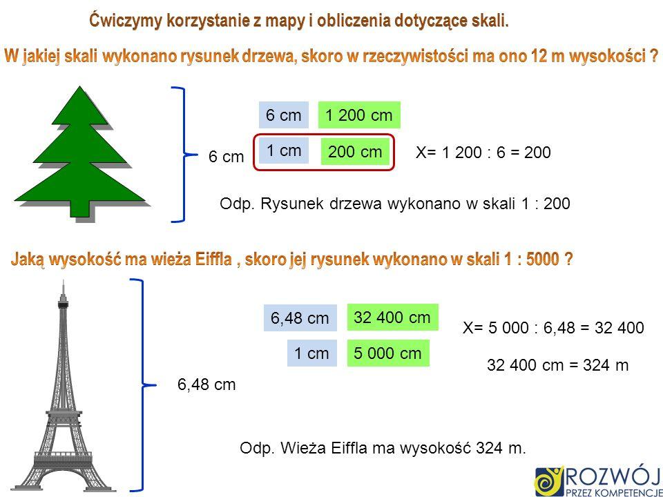 Ćwiczymy korzystanie z mapy i obliczenia dotyczące skali.