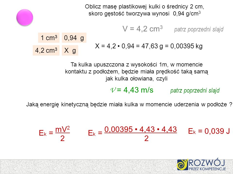 V = 4,2 cm3 patrz poprzedni slajd