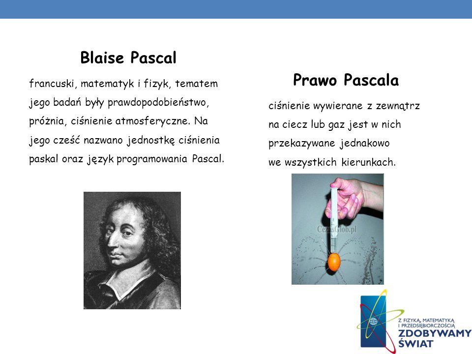 Blaise Pascal Prawo Pascala