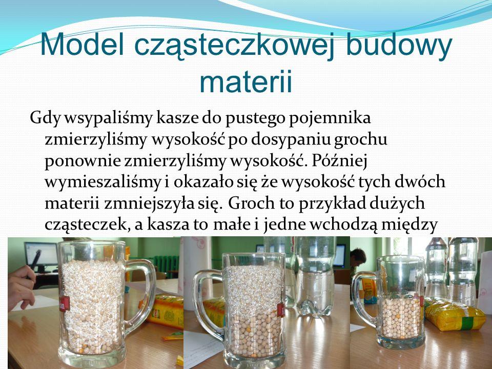 Model cząsteczkowej budowy materii