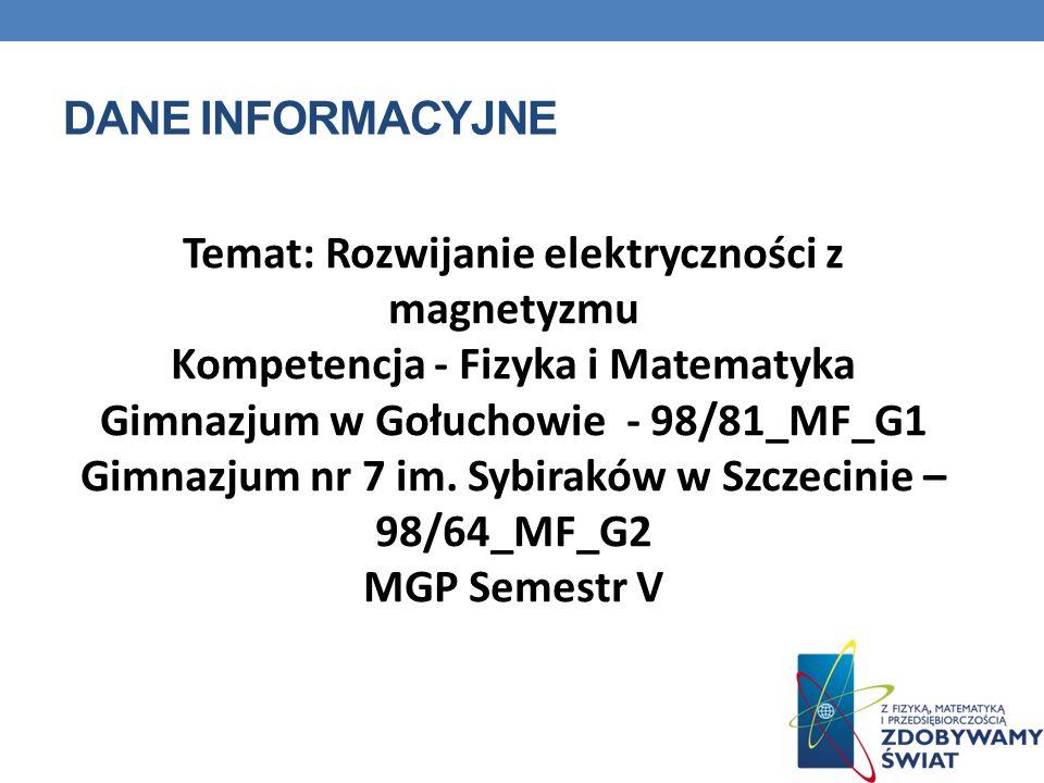 Temat: Rozwijanie elektryczności z magnetyzmu