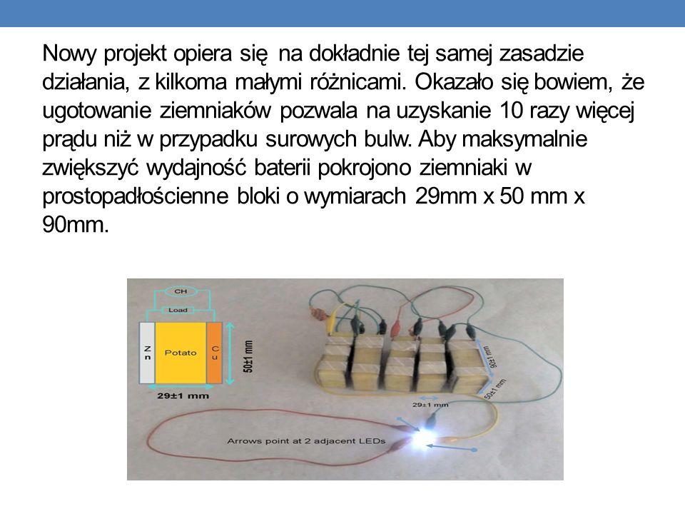 Nowy projekt opiera się na dokładnie tej samej zasadzie działania, z kilkoma małymi różnicami.