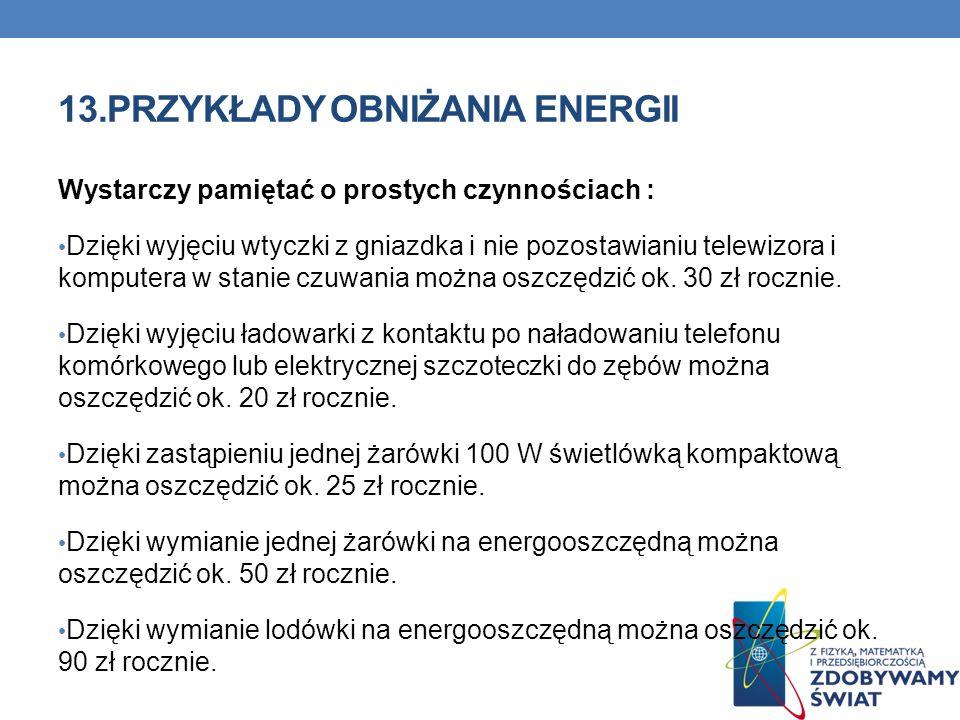 13.PRZYKŁADY OBNIŻANIA ENERGII