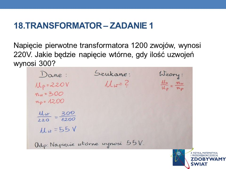 18.TRANSFORMATOR – ZADANIE 1