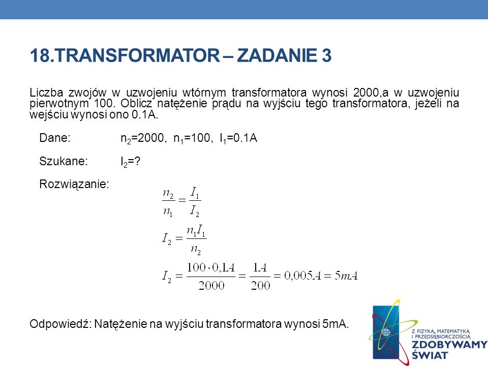 18.TRANSFORMATOR – ZADANIE 3