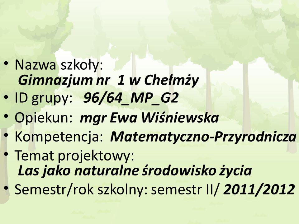 Nazwa szkoły: Gimnazjum nr 1 w Chełmży