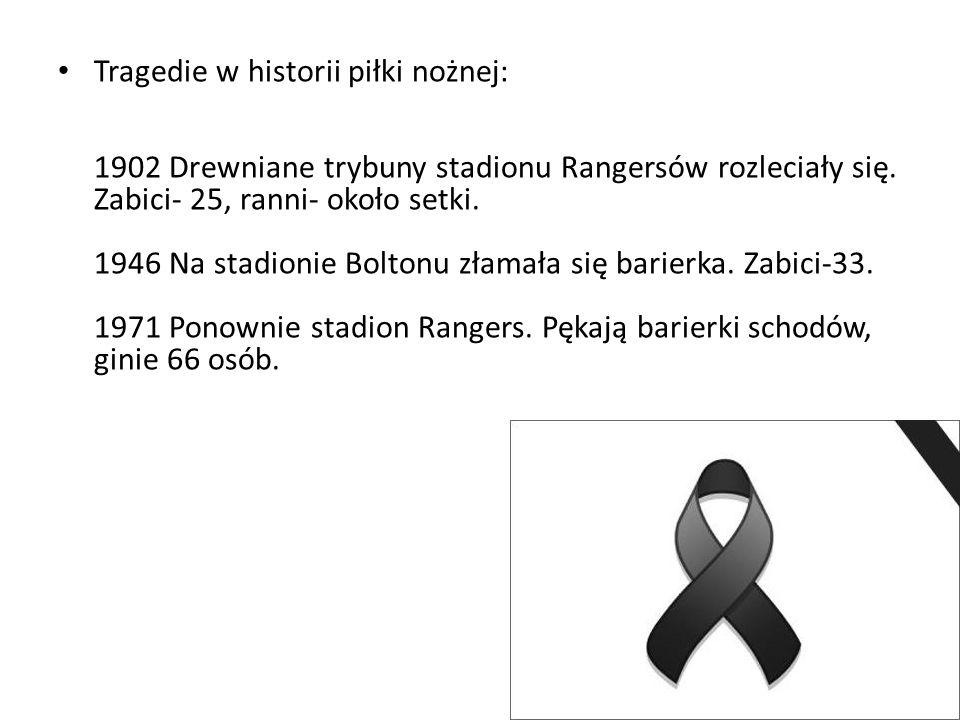 Tragedie w historii piłki nożnej: 1902 Drewniane trybuny stadionu Rangersów rozleciały się.
