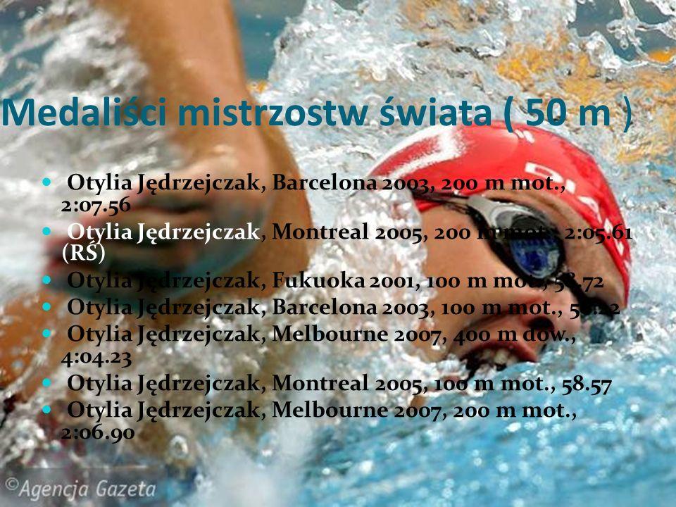 Medaliści mistrzostw świata ( 50 m )