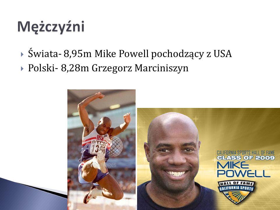 Mężczyźni Świata- 8,95m Mike Powell pochodzący z USA