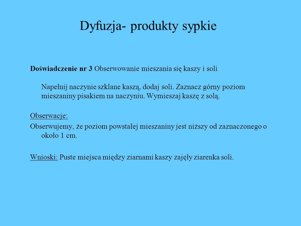 Dyfuzja- produkty sypkie