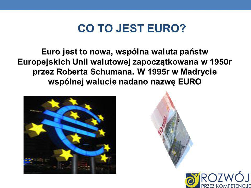 CO TO JEST EURO
