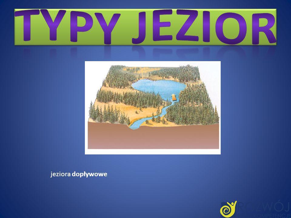 Typy jezior jeziora dopływowe