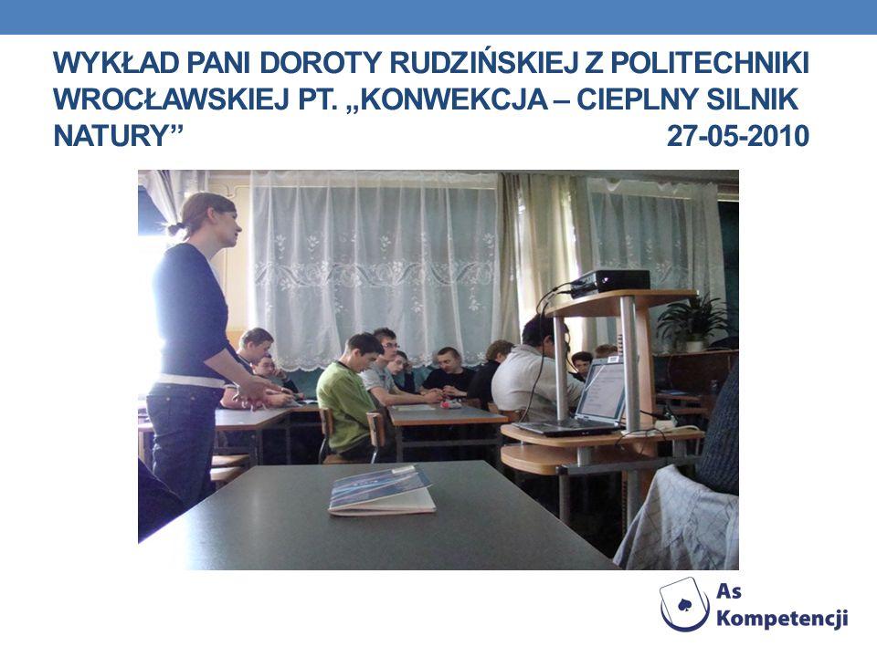 Wykład pani doroty rudzińskiej z politechniki wrocławskiej pt