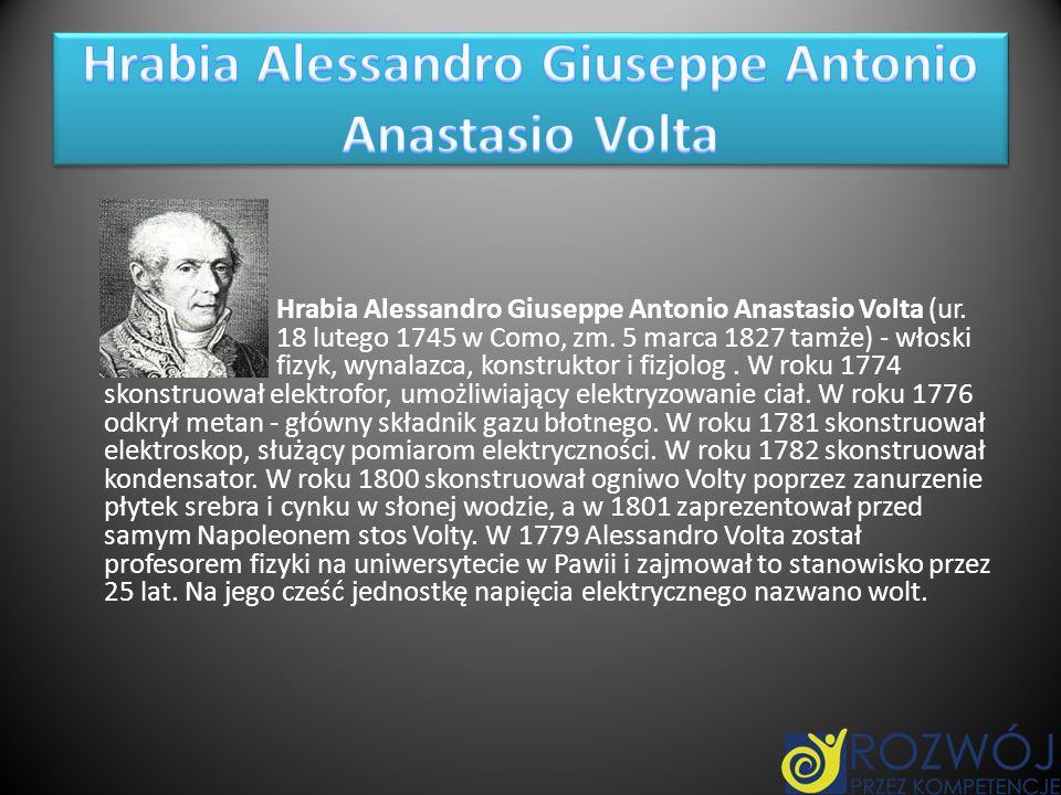 Hrabia Alessandro Giuseppe Antonio Anastasio Volta