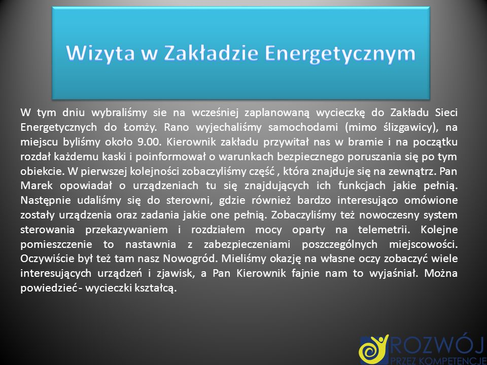 Wizyta w Zakładzie Energetycznym