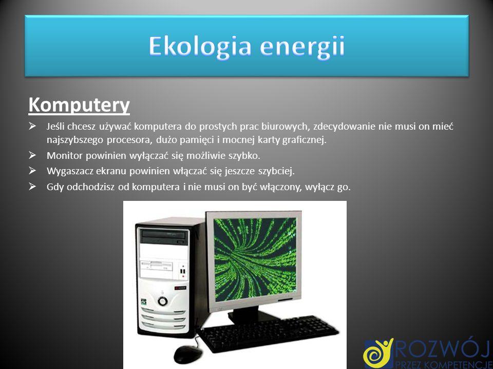 Ekologia energii Komputery