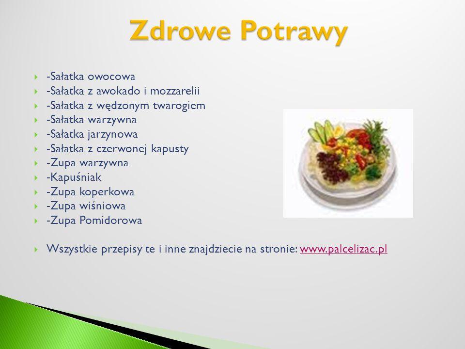 Zdrowe Potrawy -Sałatka owocowa -Sałatka z awokado i mozzarelii