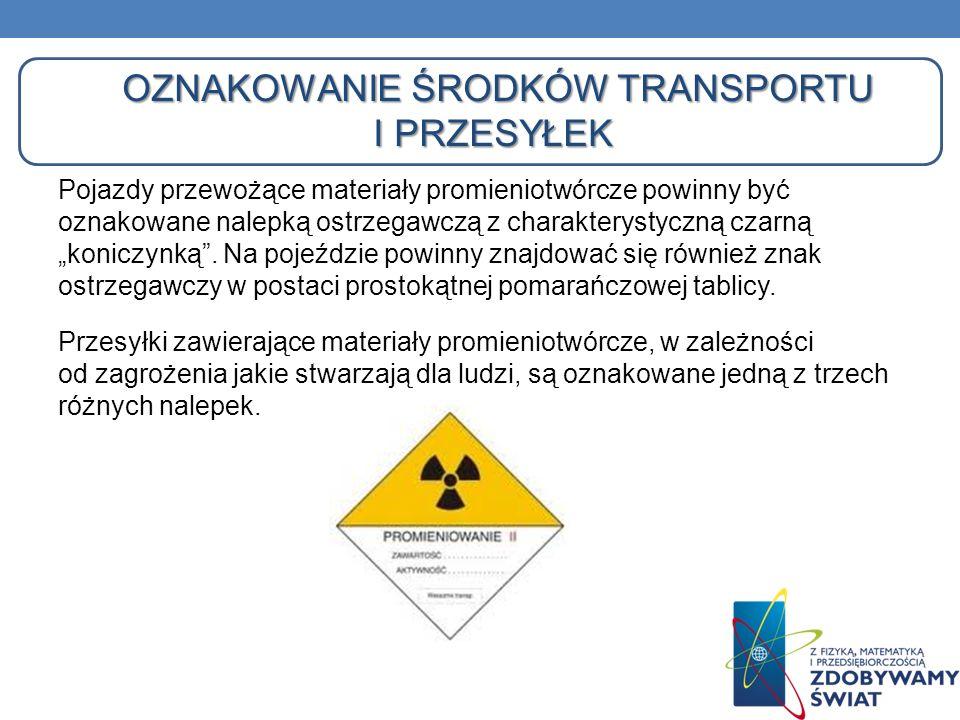 Oznakowanie środków transportu i przesyłek