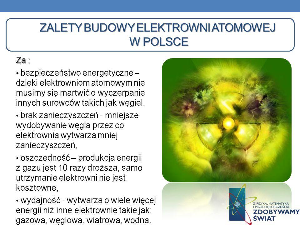 zalety Budowy elektrowni atomowej w Polsce