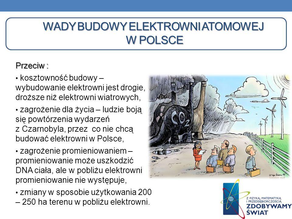 wady Budowy elektrowni atomowej w Polsce