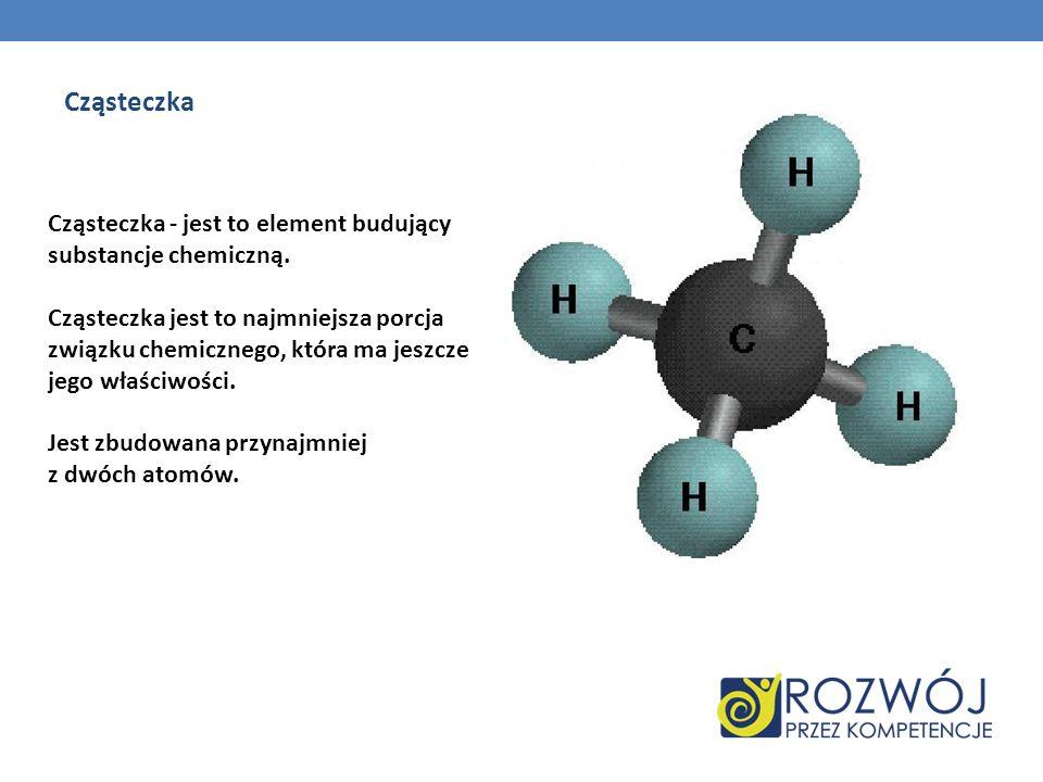 Cząsteczka Cząsteczka - jest to element budujący substancje chemiczną.