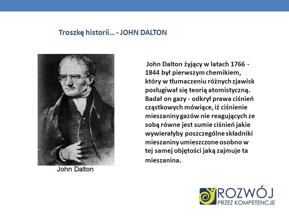 Troszkę historii… - JOHN DALTON