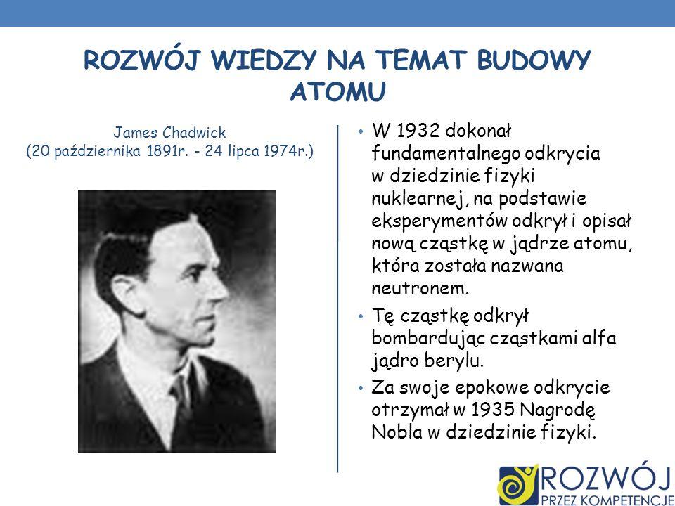 Rozwój wiedzy na temat budowy atomu