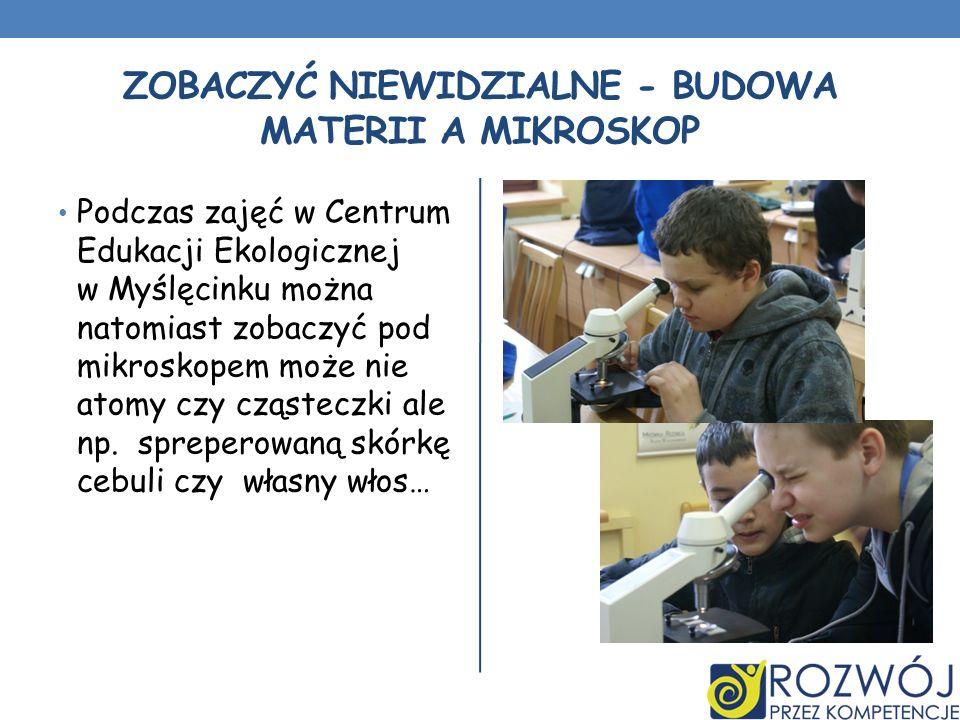 Zobaczyć niewidzialne - Budowa materii a mikroskop