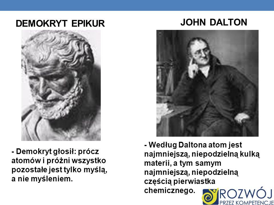 JOHN DALTON Demokryt epikur