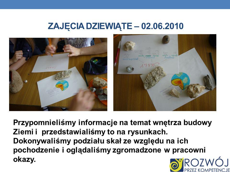 Zajęcia dziewiąte – 02.06.2010