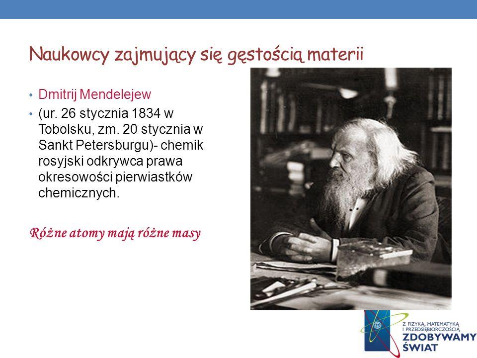 Naukowcy zajmujący się gęstością materii