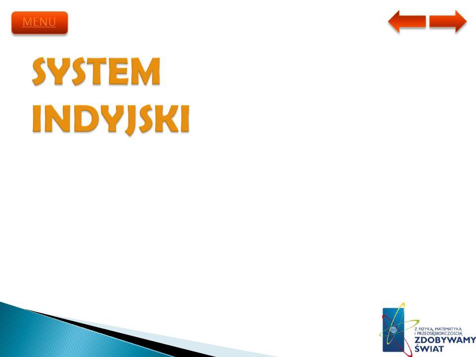 MENU SYSTEM INDYJSKI