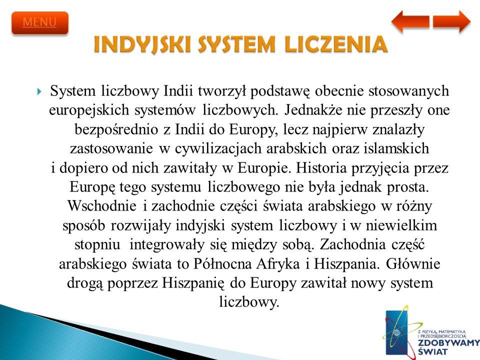 INDYJSKI SYSTEM LICZENIA