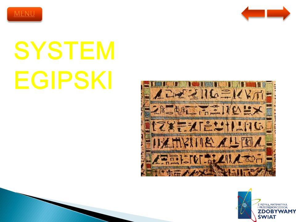 MENU SYSTEM EGIPSKI