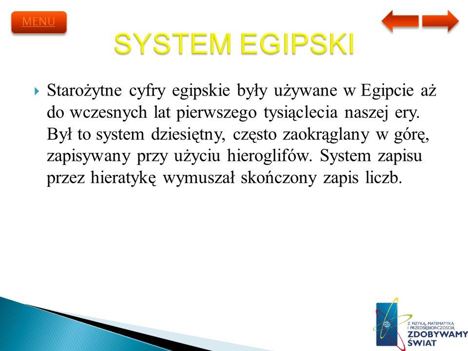 MENU SYSTEM EGIPSKI.