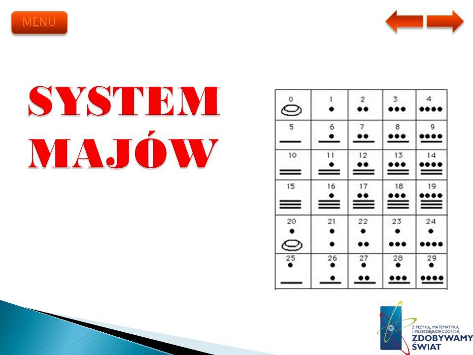 MENU SYSTEM MAJÓW