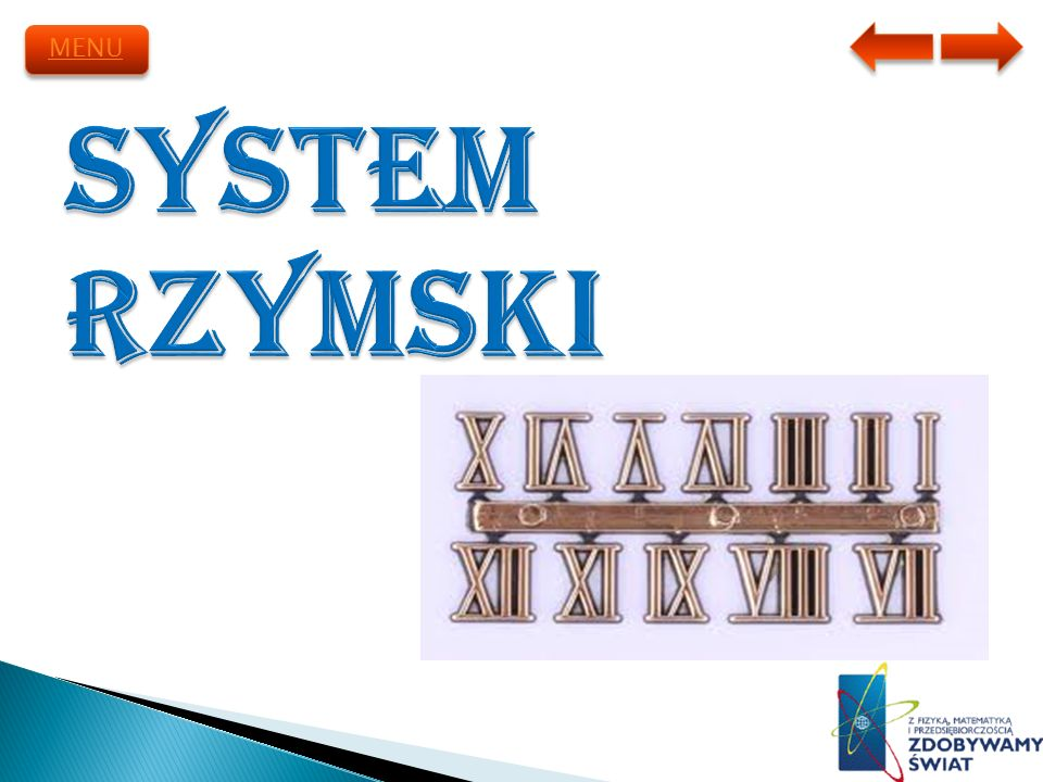 MENU System Rzymski
