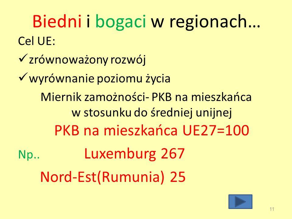 Biedni i bogaci w regionach…