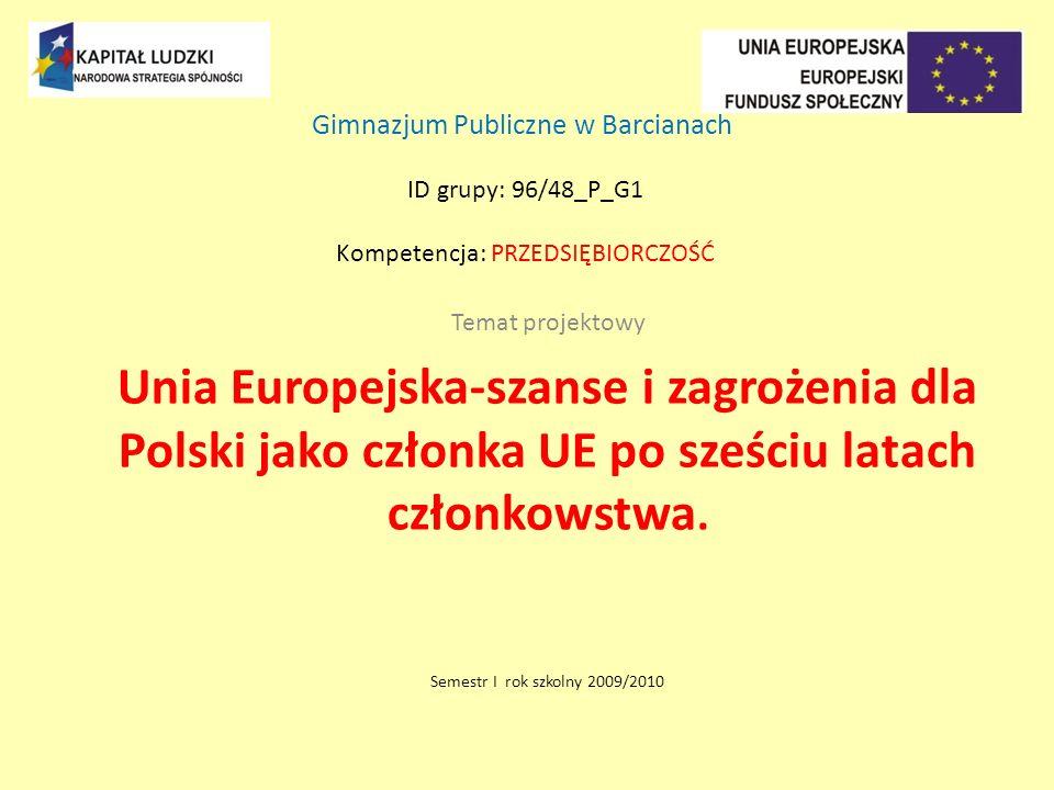 Gimnazjum Publiczne w Barcianach ID grupy: 96/48_P_G1 Kompetencja: przedsiębiorczość