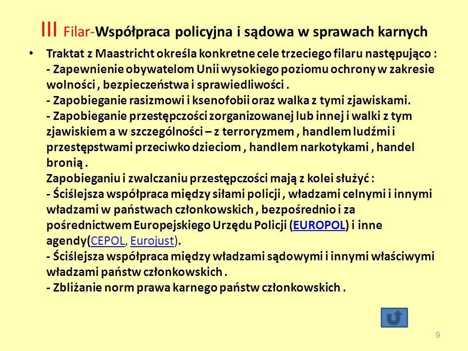 III Filar-Współpraca policyjna i sądowa w sprawach karnych
