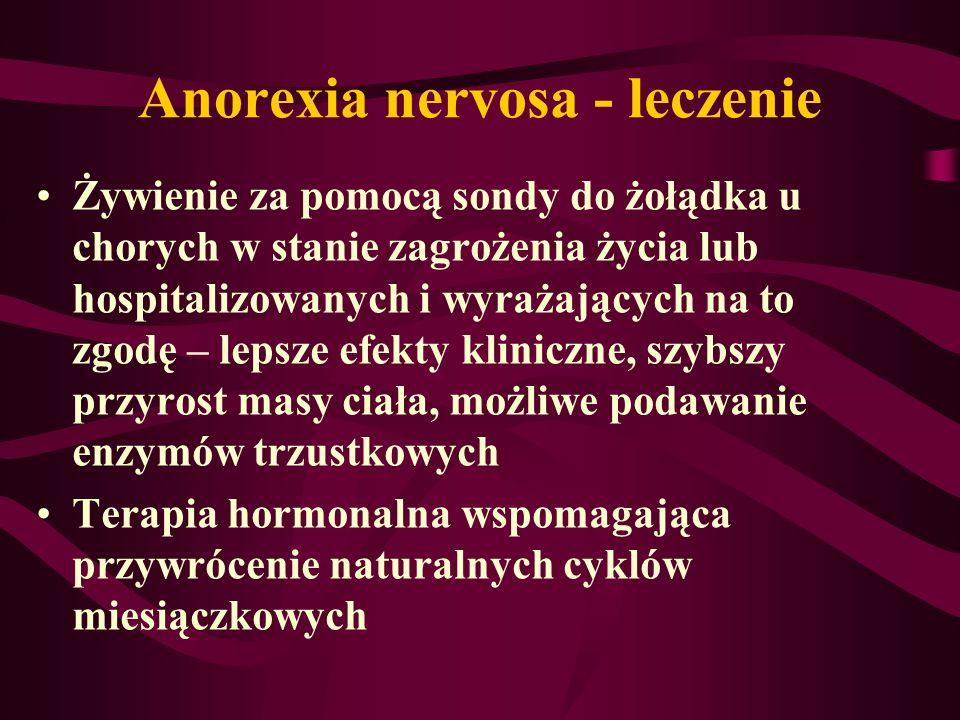 Anorexia nervosa - leczenie