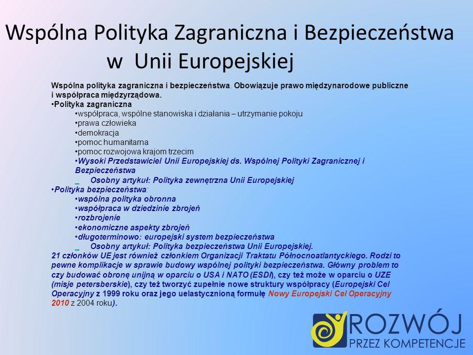 Wspólna Polityka Zagraniczna i Bezpieczeństwa w Unii Europejskiej