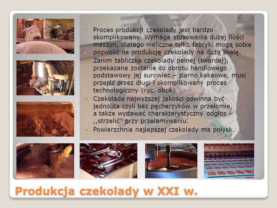 Produkcja czekolady w XXI w.