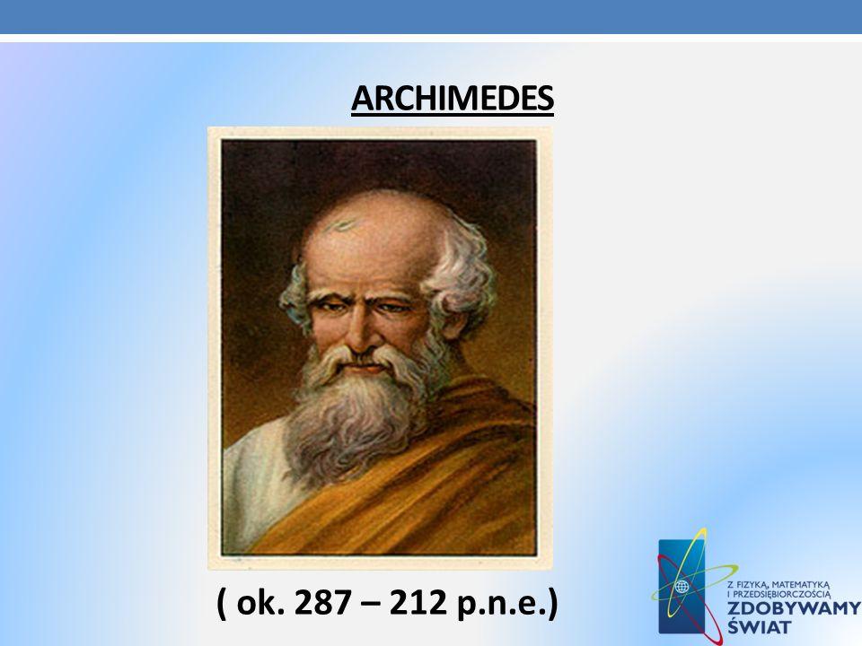 Archimedes ( ok. 287 – 212 p.n.e.)