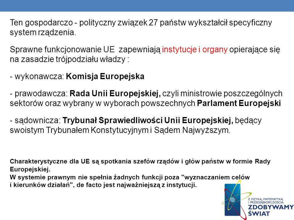 - wykonawcza: Komisja Europejska