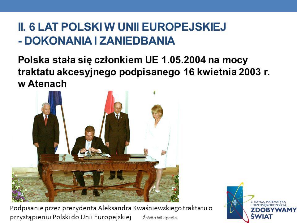 II. 6 lat polski w unii europejskiej - dokonania i zaniedbania
