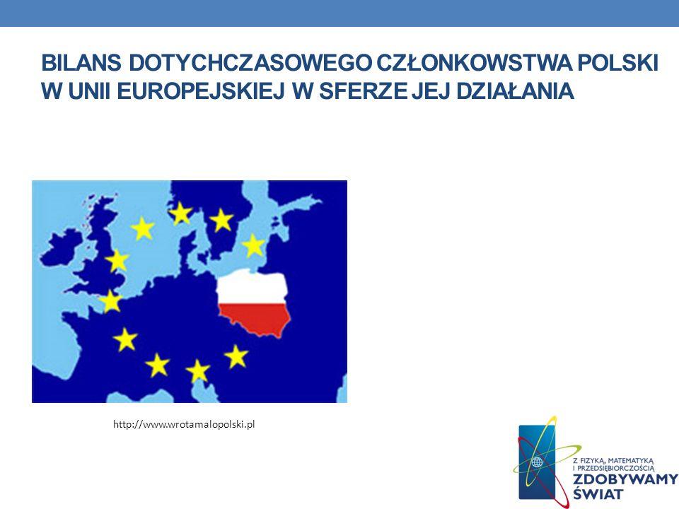 bilans dotychczasowego członkowstwa Polski w Unii Europejskiej w sferze jej działania